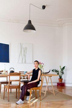 Nhu Duong in her home in Schöneberg - love this