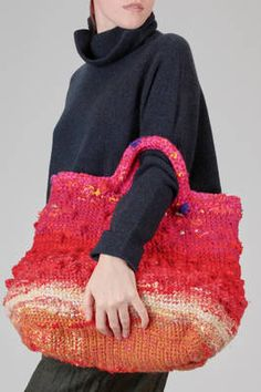 Knit World, Leather Embroidery, Crochet Market Bag, Yarn Bag, Creative Textiles, Unique Crochet, Clothing And Textile, Jute Bags, Fabric Bags