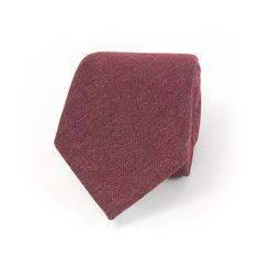 Edward Sexton - Indian red cashmere blend herringbone tie