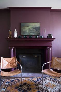 Does it get any cooler than a plum fireplace?