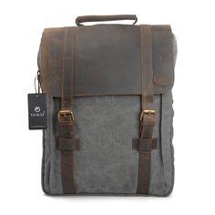 YAAGLE Canvas europäisch Damen und Herren Unisex Retrotasche Rucksack Reisetasche groß Fassungsvermögen Schüler Schultasche Laptoptasche Schultertasche-grey(large): Amazon.de: Koffer, Rucksäcke & Taschen