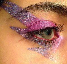 glitter lightning bolt eye make up