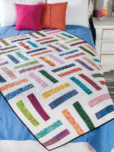 The 10 fantastic quilts are perfect for that special young person in your life. Each design features fun elements that can be made in a short amount of time with techniques that won't slow you down. The construction of each quilt is designed for ease...