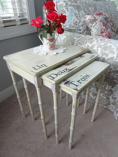 cute idea for stacking tables