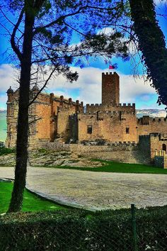 The Castle of Xavier   sits on a hill overlooking the town of Javier in the Navarre, about 52km east of the city of Pamplona.    In Spanish the castle is referred to as Castillo de Javier. It was built in the 10th century and is the birthplace of St Francis Xavier, son of the Lords of Xavier. Source of information Wikipaedia