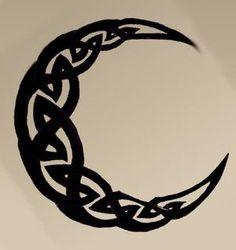 celtic moon-like on the foot wrist or ear