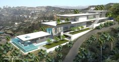 Hilltop residential home above Sunset Plaza in Los Angeles California. Designed by Ameen Ayoub Design Studio