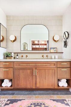 Bathroom Renos, Laundry In Bathroom, Washroom, Master Bathroom, Up House, Cozy House, Heath Ceramics Tile, Heath Tile, Beautiful Bathrooms
