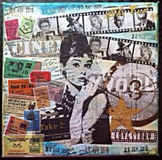 Movie Stars Canvas Project - Using Decoupage technique