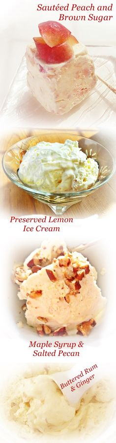 Four spontaneous ice creams made using this genius no-churn recipe!  '#genius #icecream #recipe!