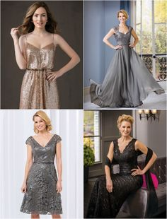 Sequin & Lace Dresses for a Bridesmaid, Mother of the Bride or Mitzvah Mom by Jasmine Bridal - mazelmoments.com