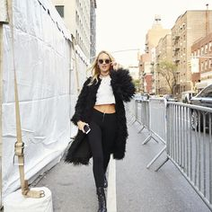 @angelcandices knows how to make an entrance . Happy #VSFashionShow day!! Candice Swanepoel showing-up at the location for this year's Victoria's Secret Fashion Show 2015 New York -- Today, Nov. 10th!