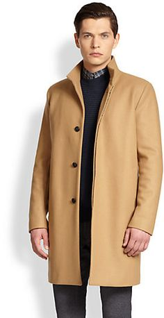 Camel Overcoat by Theory. Buy for $745 from Saks Fifth Avenue