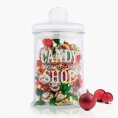 Glass Jar with Santa Claus Chocolates http://www.storesupreme.com/en/parties-celebrations/9434-glass-jar-with-santa-claus-chocolates.html