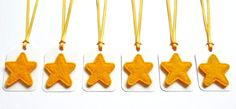 Festive Golden Yellow Felt Star Christmas Gift by HandmadebyKATuck, £4.00