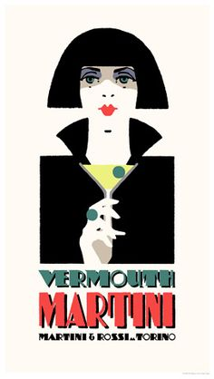 3b8fc4cb2 This Martini poster pursues an  Egyptian  feel which was very popular with  the designers