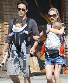Anna Paquin and Stephen Moyer with twins Poppy and Charlie