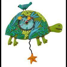 Fantastic turtle clock with a starfish pendulum.