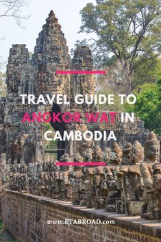 Angkor Wat temple complex consists of dozens of temples lying in the jungle. Here's the travel guide to Angkor Wat that show how you can plan your visit. Cambodia best of Angkor Wat   What to see in Angkor Wat   What to do in Angkor Wat   Angkor Wat and best temples   Cambodia Travel Guide   Angkor Wat Travel Guide #Cambodia#AngkorWat#Travel#Wanderlust#BucketList