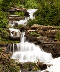 Cataract Creek Falls in Glacier National Park by Lost Canyon Photography starting at $15.00