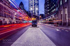Bishopsgate Traffic London by tomeversley