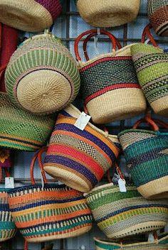 Summer must have: Farmers Market Baskets, Santa Fe. Santa Fe Style, Market Baskets, Basket Bag, Wicker Baskets, Woven Baskets, Basket Weaving, Handicraft, Knitting, Daily Photo