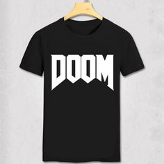 summer new brand fashion Doom T-shirt - All Time Great Video Game Unoffical in Mens Cotton man T Shirt Video Game T Shirts, Cheap T Shirts, Great Videos, Work Shirts, Branded T Shirts, Fashion Brand, Sleeve Styles, Shirt Style, Mens Tops