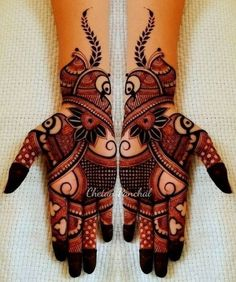 Here you will get the latest and beautiful collections of Mehndi designs for your marriage and engagement occasion. Find and get ideas for your wedding. Henna Hand Designs, Mehndi Designs Finger, Mehndi Designs For Girls, Mehndi Designs 2018, Mehndi Designs For Beginners, Modern Mehndi Designs, Mehndi Designs For Fingers, Mehndi Design Pictures, Beautiful Mehndi Design