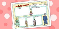 The Jolly Postman Book Review Writing Frame - the jolly postman, book review, writing frame, book review writing frame, writing aid, writing template The Jolly Postman Book, Jolly Christmas Postman, Character Personality Traits, English Units, People Who Help Us, Writing Template, Book Corners, Kids Story Books, Kids Writing