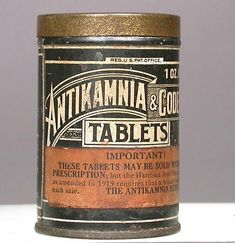 Antikamnia & Codeine Tablets; after 1919