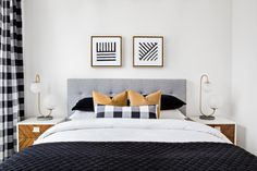 This Mad Men-Inspired Loft Blends Retro Decor With Modern Luxury - Bedroom Patterned Wall Art / Home Accessories - DIY Project Inspiration Retro Home Decor, Luxury Home Decor, Modern Decor, Mid-century Modern, Modern Luxury, Modern Loft, Minimal Decor, Vintage Modern, Scandinavian Interior Design