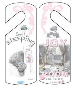 tatty teddy ,deur hanger,baby kamer,baby shower,kraam kadootjes
