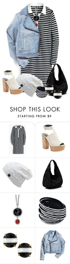 """""""white shoe"""" by kim-coffey-harlow ❤ liked on Polyvore featuring J.Crew, Rebecca Minkoff, Kate Spade, women's clothing, women, female, woman, misses and juniors"""