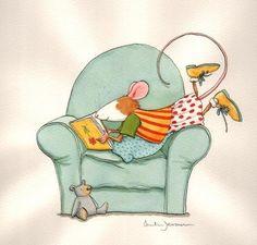 mouse reading by Anita Jeram