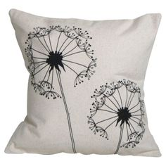 Dandelion Pillow in Black