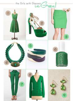 St. Patricks Day fashion. #green #fashion #thegirlswithglasses