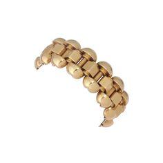 A yellow gold tank bracelet 1940