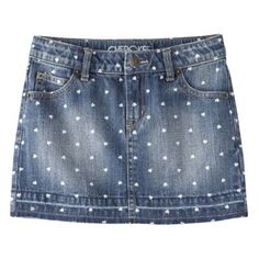 Printed denim skirt + 25 Hot Trends at Low Prices for Kids