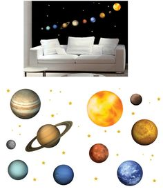 Art Applique Planets  Wall Stickers - Wall Sticker Outlet