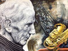 Watercolor Painting-Saxophone
