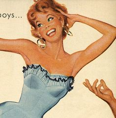 vintage 1946 swimwear pinup advertisement jantzen