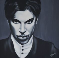 Prince Art Print by Richard Garnham. All prints are professionally printed, packaged, and shipped within 3 - 4 business days. Choose from multiple sizes and hundreds of frame and mat options. Oil Painting On Canvas, Canvas Art, Prince Images, The Artist Prince, Thing 1, Black And White Painting, Photorealism, Pop Art, Fine Art