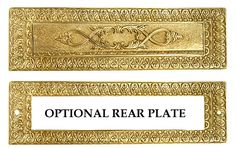 9 Inch Solid Brass Victorian Mail Slot (Polished Brass Finish)