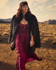 We 💗 this image of in our Antheia slip! Styled by and image by Desert Rose, Storyboard, Fur Coat, Dress Up, Bloom, Image, Jackets, Style, Fashion