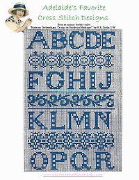 part 1 block free cross stitch pattern alphabets