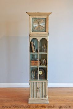Grandfather Clock painted with Chalk Paint® decorative paint Annie Sloan in Old Call today or stop by for a tour of our facility! Indoor Units Available! Ideal for Outdoor gear, Furniture, Antiques, Collectibles, etc. and Duck Egg Blue. Chalk Paint Furniture, Funky Furniture, Recycled Furniture, Unique Furniture, Furniture Projects, Furniture Redo, Repurposed Grandfather Clock, Grandfather Clocks, Clock Painting