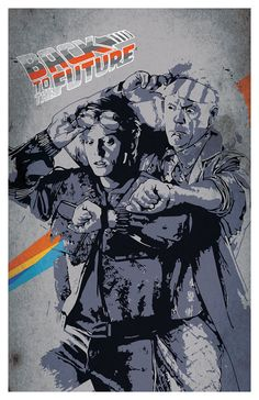 Back to the future movie poster Delorean 11x17 by PosterForum