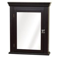 22 in. W Surface-Mount Mirrored Medicine Cabinet in Espresso-MC11CH at The Home Depot $139