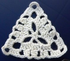LINDEVROUWSWEB: Driehoek - crochet granny triangle pattern (chart)