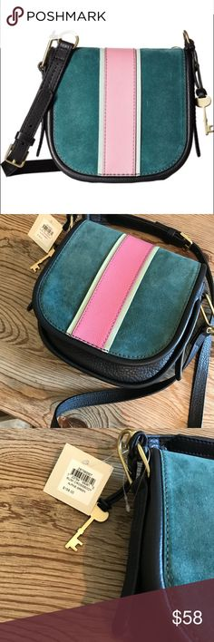 💝SUN SALE💝NWT FOSSIL CROSSBODY RUMI BAG New with tags fossil crossbody Rumi bag in alpine green price firm in Sunday sale unless bundled Fossil Bags Crossbody Bags